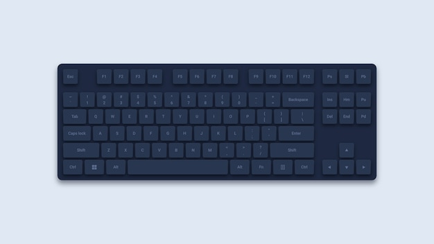 Черная компьютерная клавиатура Premium векторы