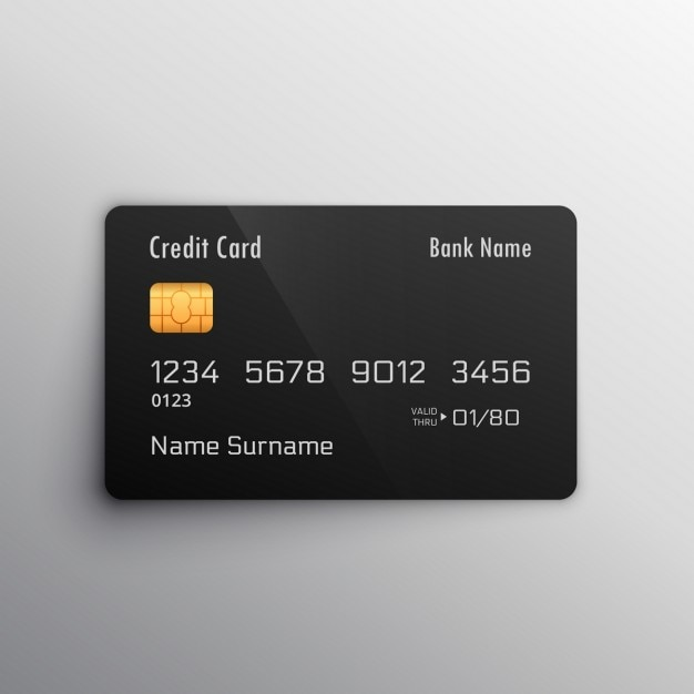 black credit card free vector