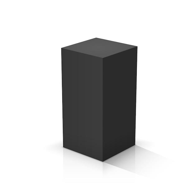 Черный кубоид Premium векторы