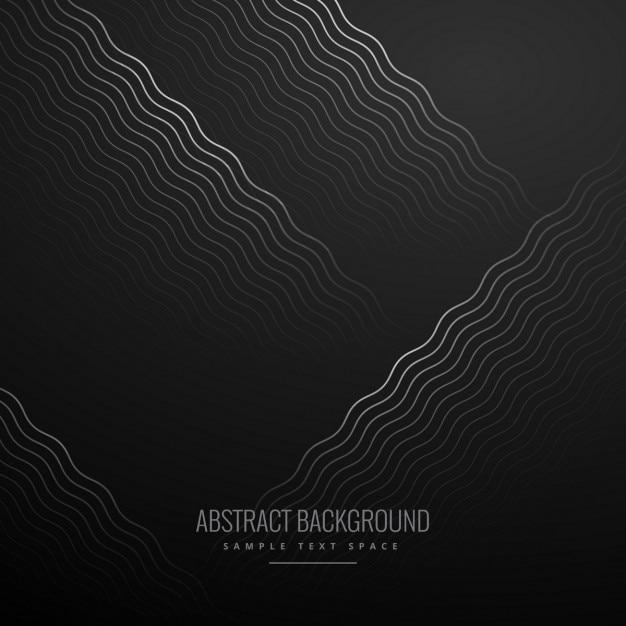 Black curvy lines background Free Vector