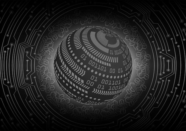 Black cyber circuit future technology concept background Premium Vector