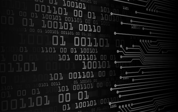 黒サイバー回路の将来の技術概念の背景 Premiumベクター