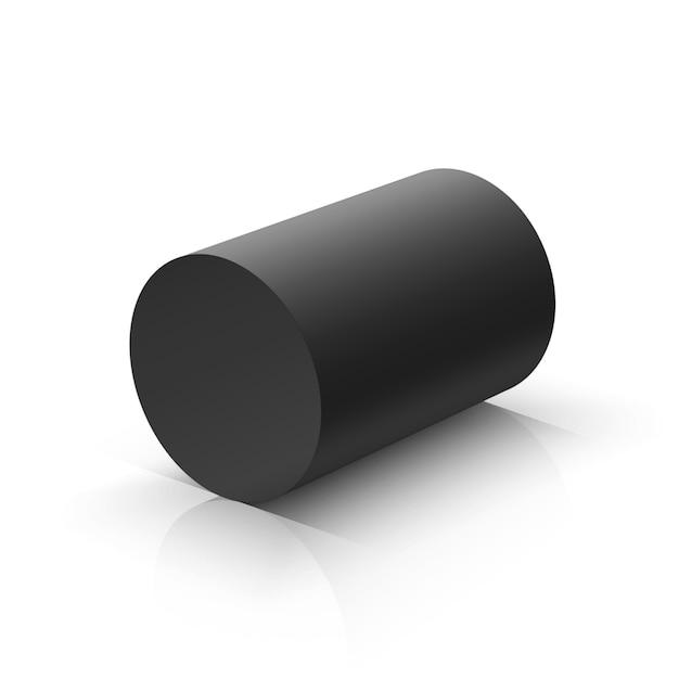 Black cylinder Premium Vector