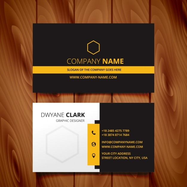 Black dark business card modern design vector free download black dark business card modern design free vector reheart Choice Image