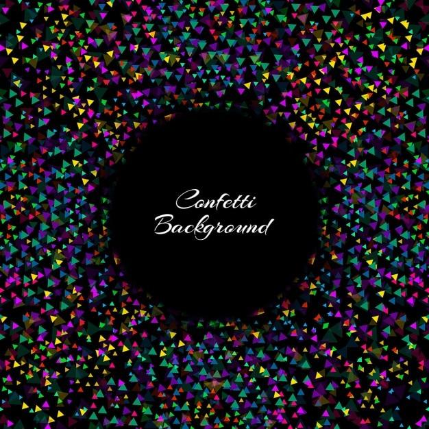 black elegant confetti background vector free download