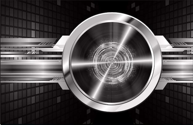 Black eye cyber circuit future technology concept background Premium Vector