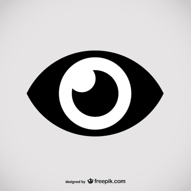 Black eye icon Free Vector