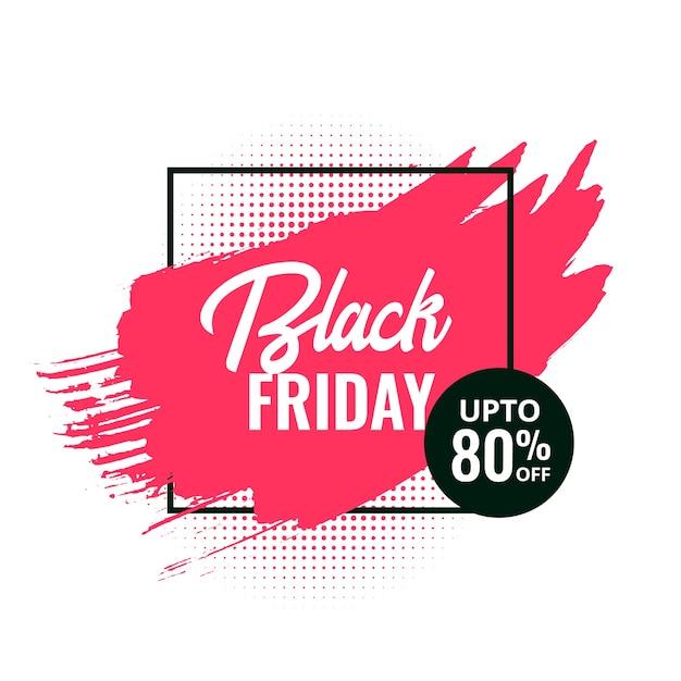 Black friday abstract splash sale banner design Free Vector