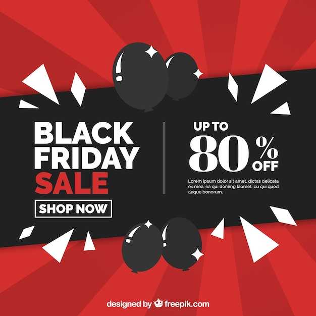 Black friday background in flat design Free Vector