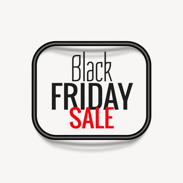 Black friday background with a rounded frame
