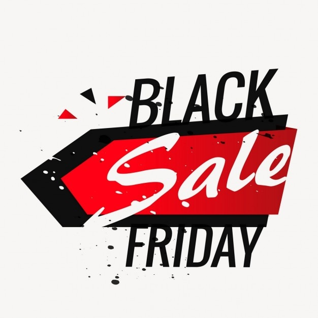 Black friday background with big letters Vector | Free ...