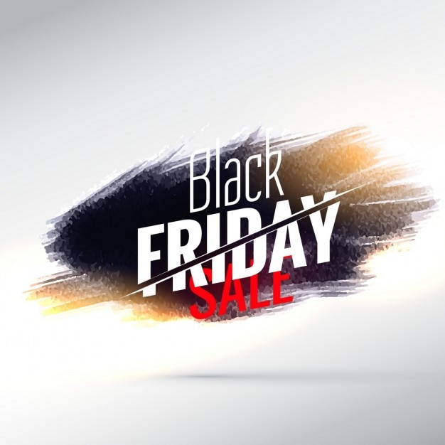 Black friday background with paint strokes Free Vector