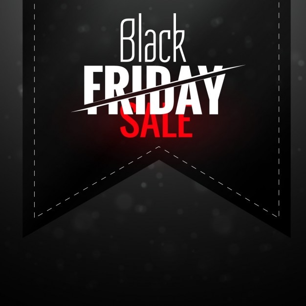 Black Friday Background With Ribbon Vector Free Download