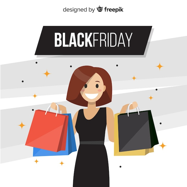 Black friday background Free Vector