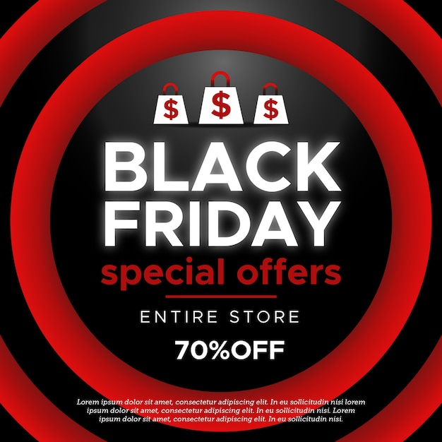 Black friday banner concept Free Vector