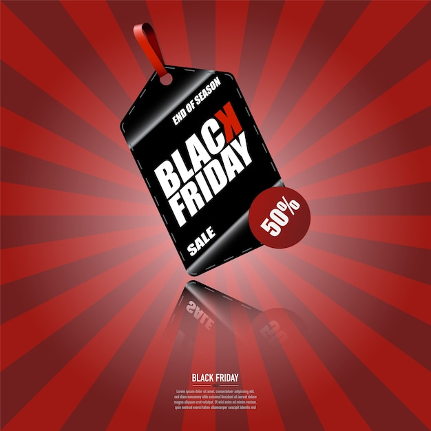 Black friday banner Premium Vector