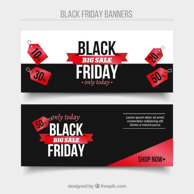 Black friday banners in modern style