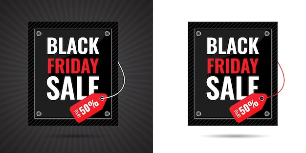 Banner Black Friday giảm giá đặc biệt , file Premium Vector cao cấp