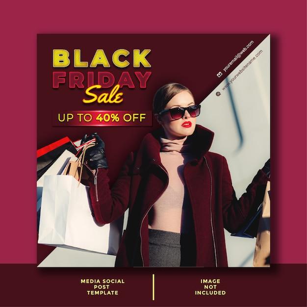 Шаблон бизнес-предложения черная пятница. минималистичный дизайн для соцсетей, рекламы, промо постеров. Premium векторы