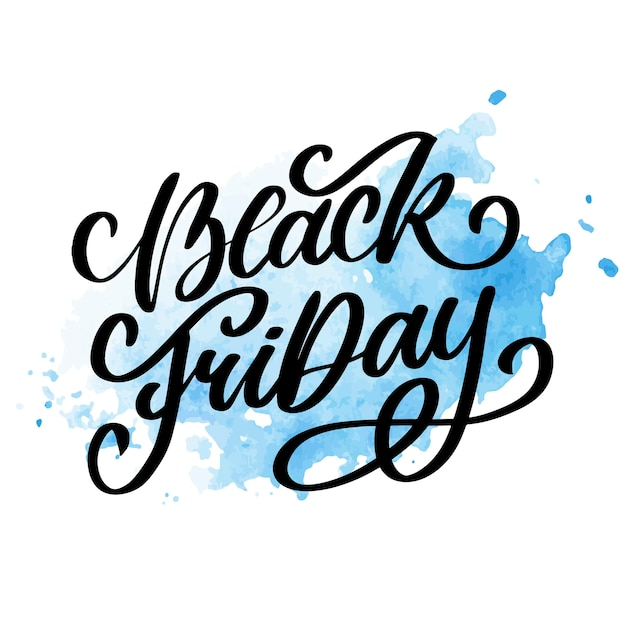 검은 금요일 붓글씨 디자인 복고풍 스타일 요소 빈티지 장식품 판매, 클리어런스 레터링 프리미엄 벡터