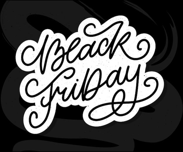 Black friday calligraphic designs retro style Premium Vector