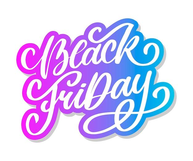 Black friday calligraphic designs Premium Vector
