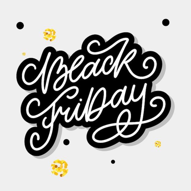 Black friday calligraphic lettering designs Premium Vector