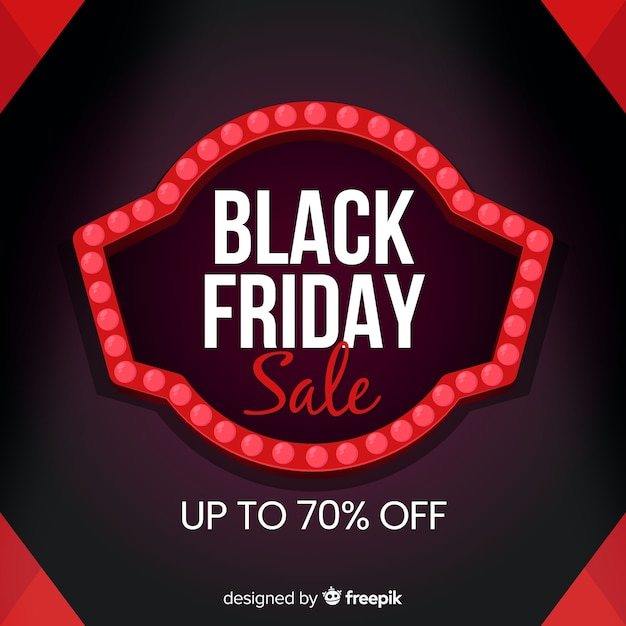 Black friday concept in flat design Free Vector