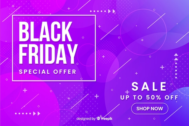 Black friday concept with gradient background Free Vector
