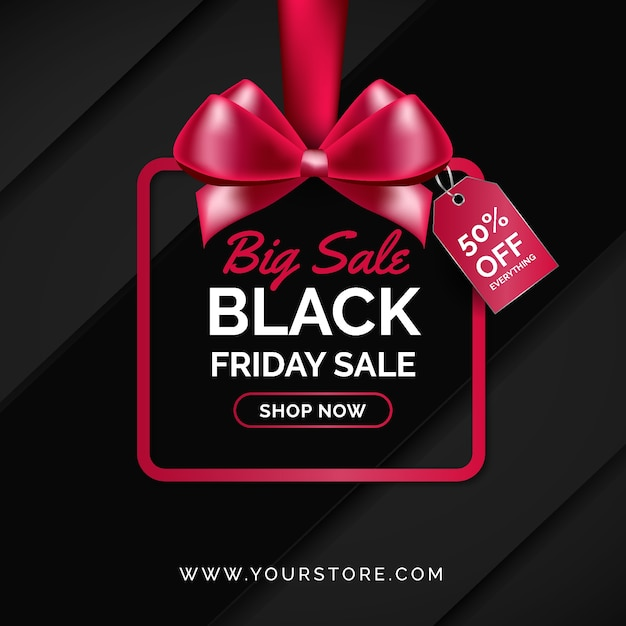 Black friday concept with realistic background Free Vector