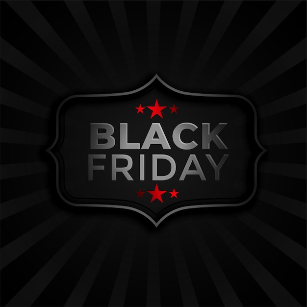 Black friday dark background stylish  template Free Vector