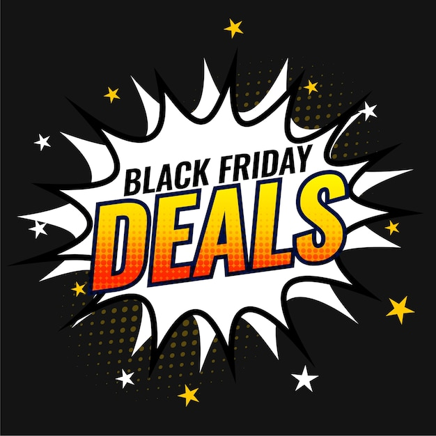Free Vector | Black friday deals and offers banner template