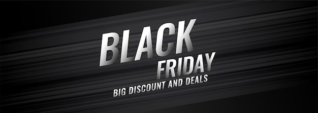 Black friday discount and deals banner design Free Vector