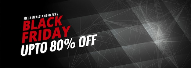 Black friday discount sale banner  template Free Vector