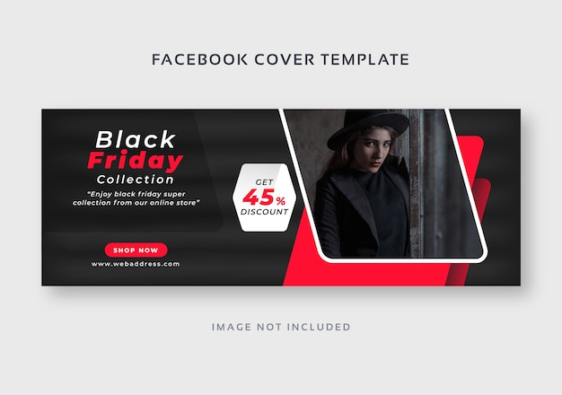 ブラックフライデーフェイスブックカバーwebバナーテンプレート Premiumベクター