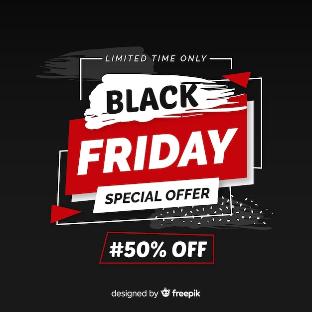 Black friday in flat design Free Vector