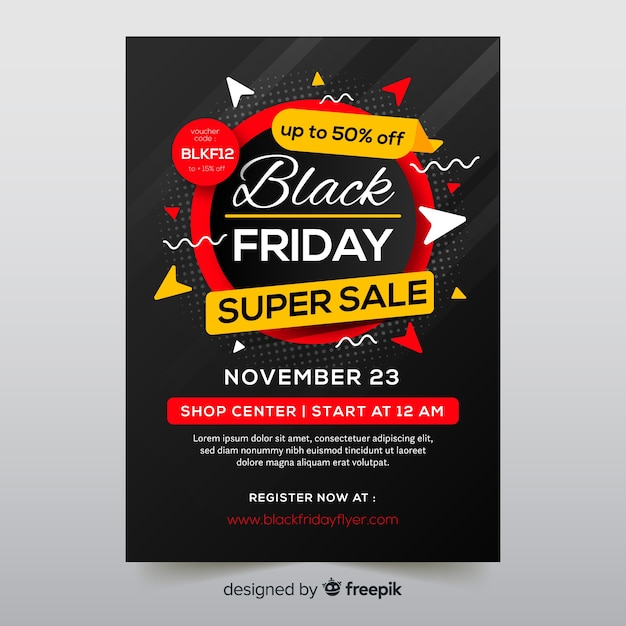 Black friday flyer Free Vector