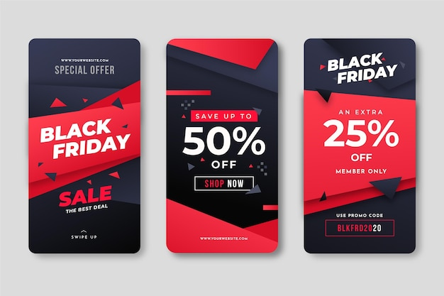 Black friday instagram web template Free Vector