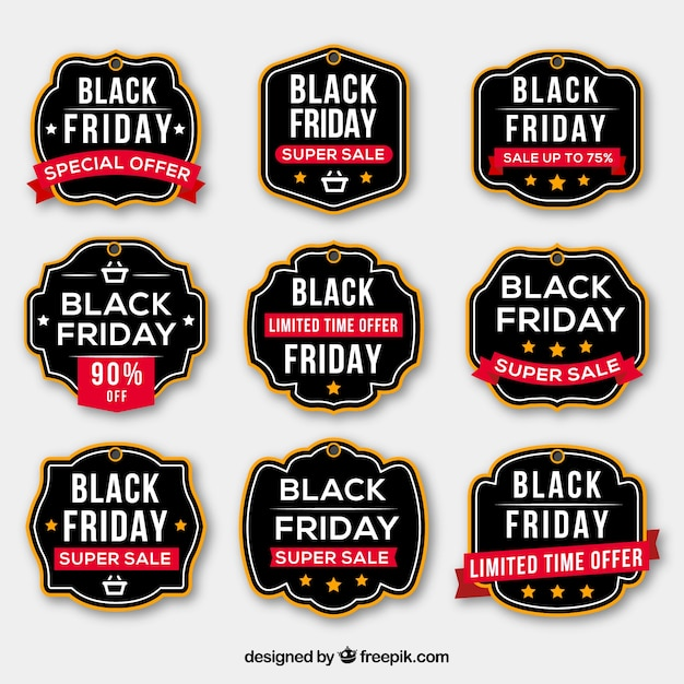 Black friday labels collection