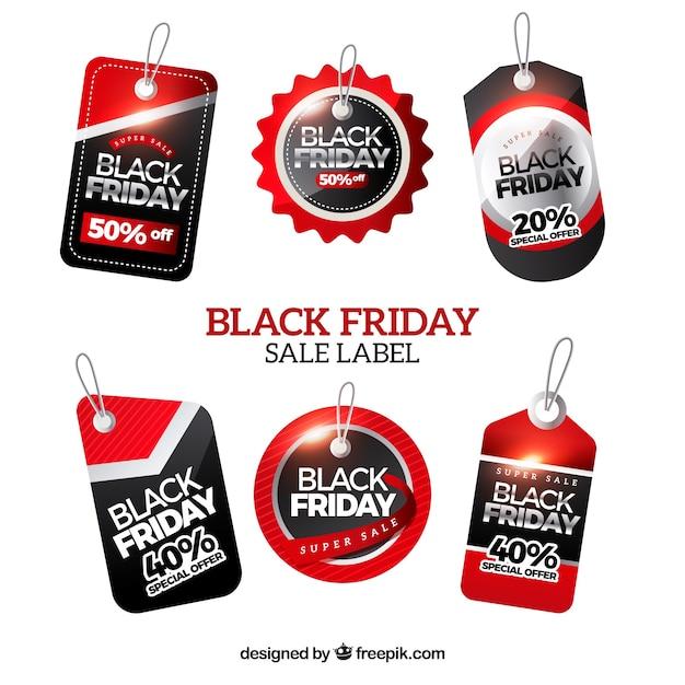 Black friday labels set Free Vector