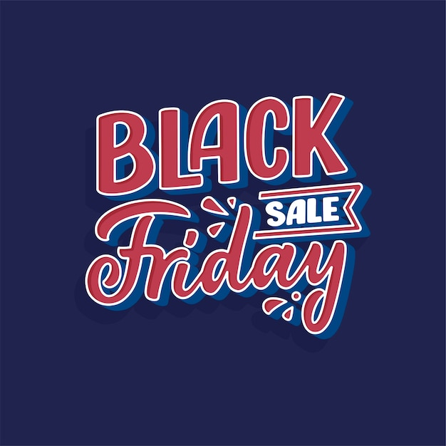 Black friday lettering in modern calligraphy style. slogan for promotion template and sale banner. Premium Vector