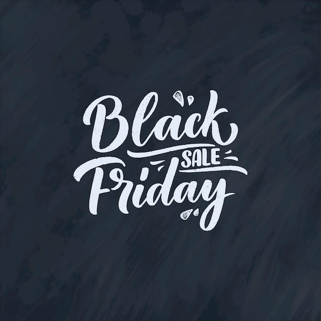 Black friday lettering in modern calligraphy style Premium Vector