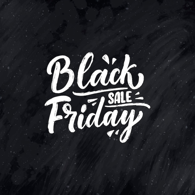 Black friday lettering in modern calligraphy style. Premium Vector