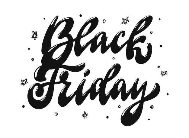 Black friday lettering quote Premium Vector