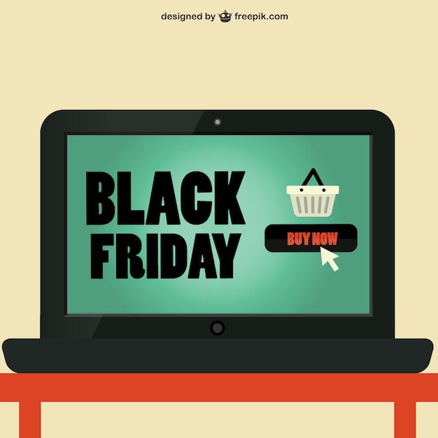 Black Friday logo on laptop