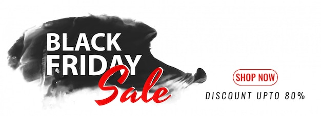 Black friday mega sale modern banner design Free Vector