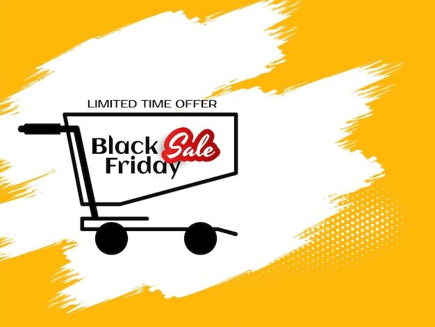 Black friday mega vendita offerta sfondo giallo vettore Vettore gratuito