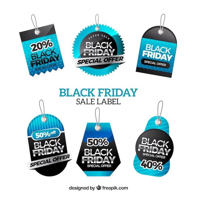 Black friday modern labels set