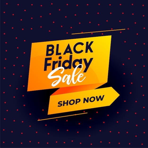 Black friday modern sale banner for online shopping Free Vector