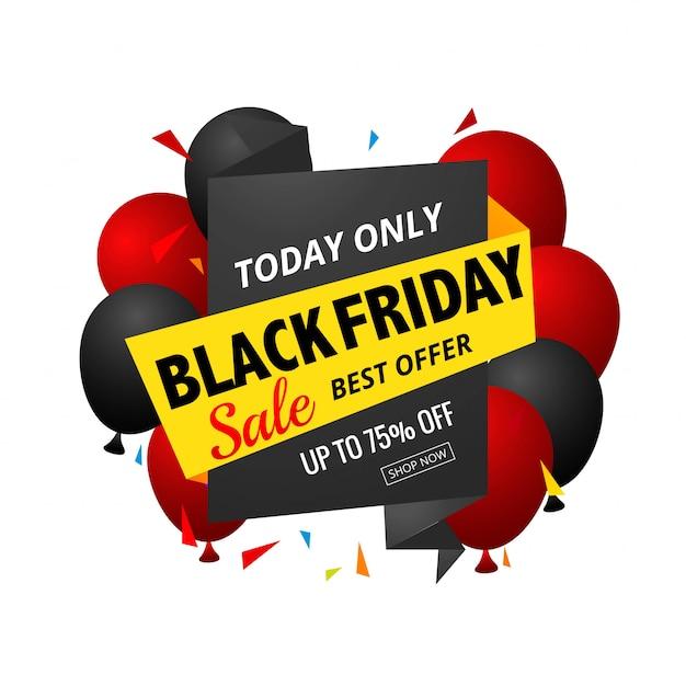 Black friday modern sale banner Free Vector